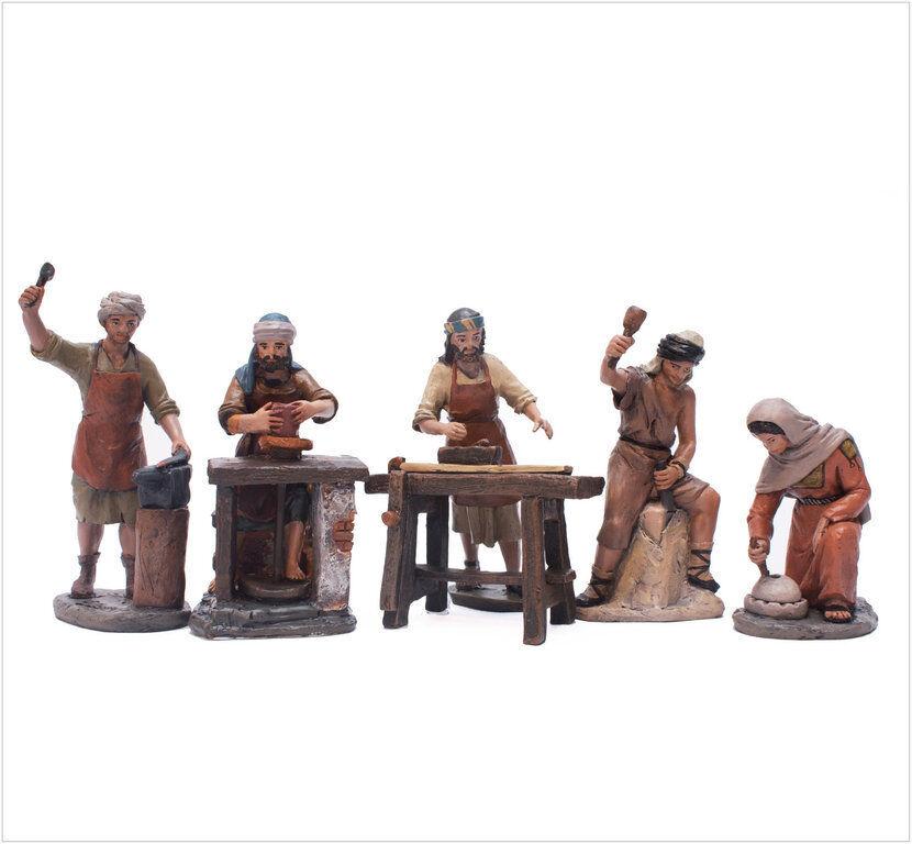 Figure Crèche J.L. Mayo-Delprado (11 cm) - Set 5 Artisans - BEL950