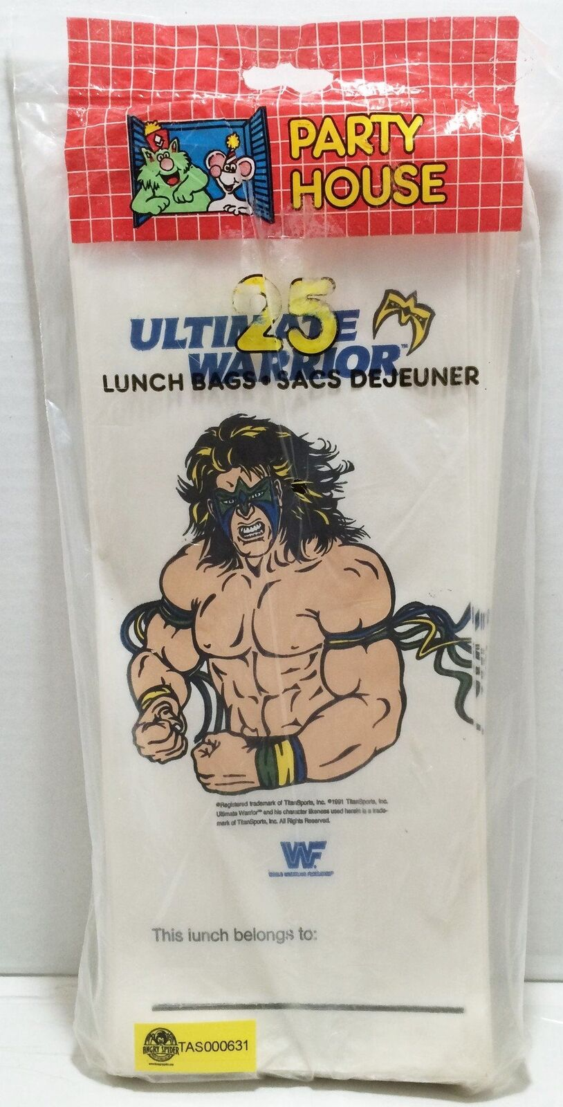 TAS032876  - 1991 Titan Sports WWE WWF Wrestling Lunch Borsas - Ultimate Warrior