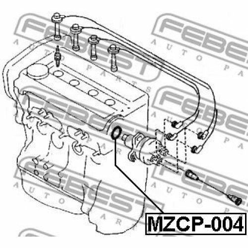 FEBEST Seal ignition distributor MZCP-004