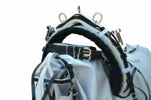 NEW BIOTHANE QUICK HITCH HORSE HARNESS BLACK /& WHITE SHETLAND SIZE