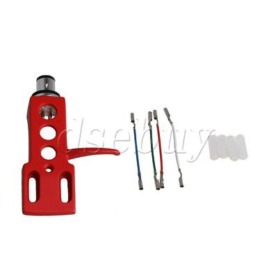 Red Turntable Headshell Mount Cartridge Replacement Phonograph Head Holder