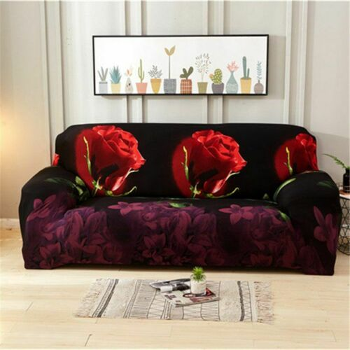 1//2//3//4 Seater Floral Elastic Soft Sofa Couch Covers Stretch Slipcover Protector