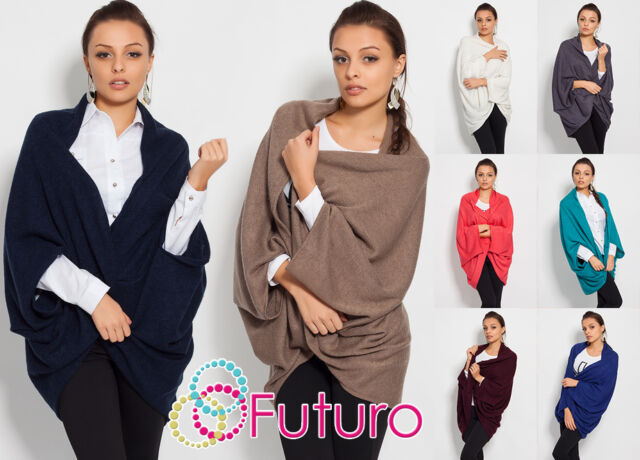 Sensible Thick Heavy Women's Top Cardigan Poncho Style Coat Cotton FK1213