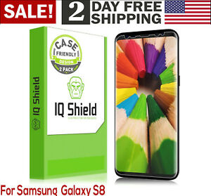 2-Pack-Samsung-Galaxy-S8-Screen-Protector-Cover-Full-Coverage-Shield-HD-Clear