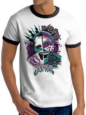 Suicide squad t-shirt film inspiré le joker dc comics harley quinn t shirt
