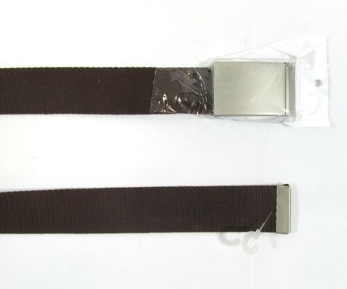 Mens Adults Buckle Belts Material Black White Cloth Webbing Canvas One Size Belt