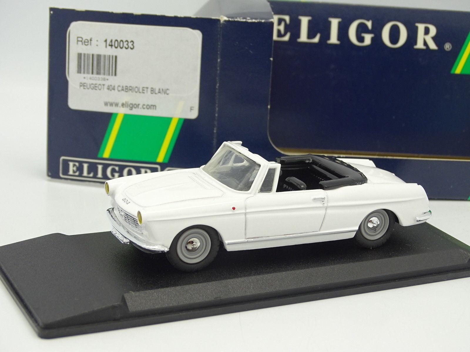 Leader Résine 1 43 - Peugeot 404 Cabriolet Blanche