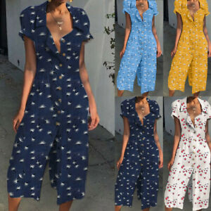100% quality quarantee discount shop 100% top quality UK Womens Holiday Playsuits Ladies Jumpsuits Beach Summer ...