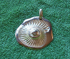 925 Sterling Silver Clam Shell Pendant