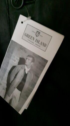 BNWT Green Island Soft Nero in Pelle Giacca In Taglia 44 petto  cihNV