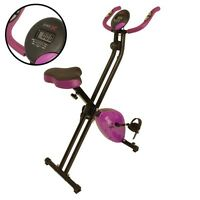 Bike-x Magnetic Foldable Exercise Bike Purple Fitness Weight Loss Machine