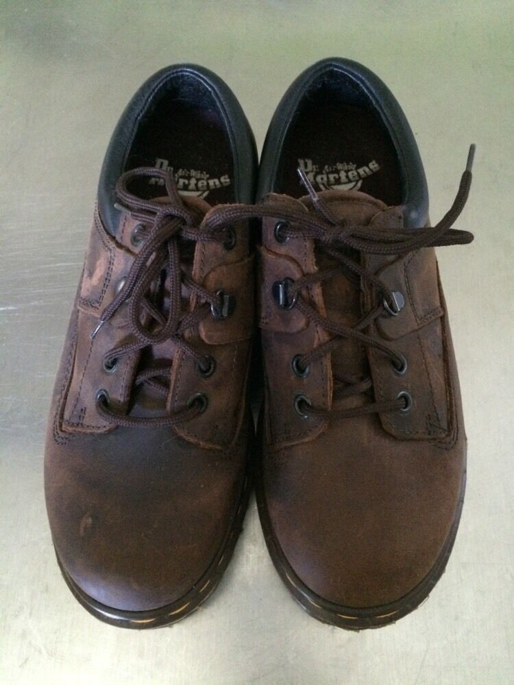 Dr Martens Airwair Brown Industrial Work shoes 7733 England US W 7  M 5.5