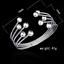 Fashion-Women-925-Silver-Plated-Beads-Bangle-Cuff-Open-Bracelet-Jewelry-Gift-New thumbnail 2