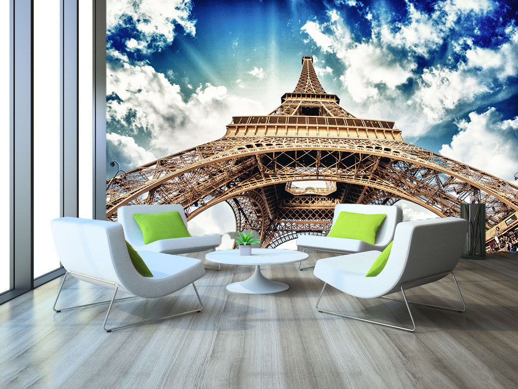 3D White Clouds Tower Paper Wall Print Wall Decal Wall Deco Indoor Murals