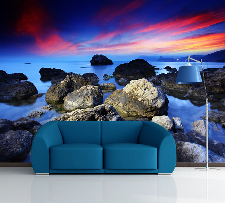 3D Sea Sunset 1137 WallPaper Murals Wall Print Decal Wall Deco AJ WALLPAPER