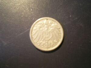 DEUTSCHES-REICH-1901-10-Pfennig-D-gute-Erhaltung