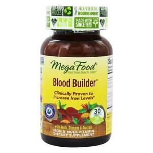 MegaFood - Blood Builder for Increased Iron Levels - 30 Tablets