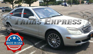1999-2006-Mercedes-S-Class-S500-W220-Chrome-6Pc-Pillar-Post-Trim-Stainless-Steel