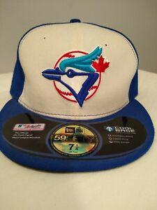 New-Era-59Fifty-Mens-MLB-Cap-Toronto-Blue-Jays-On-Field-Hat-White-5950-7-1-4