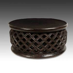 Superior Image Is Loading VINTAGE WOOD STOOL OR SIDE TABLE BAMILEKE FON