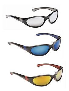 b0411d5ee1 Mens Wrap Around Visor Sports Biker Ski Sunglasses Blue Black Orange Mirror  Case