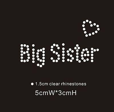 Gentile Big Sister Piccolo Diamante Strass Ferro Su Trasferimento-