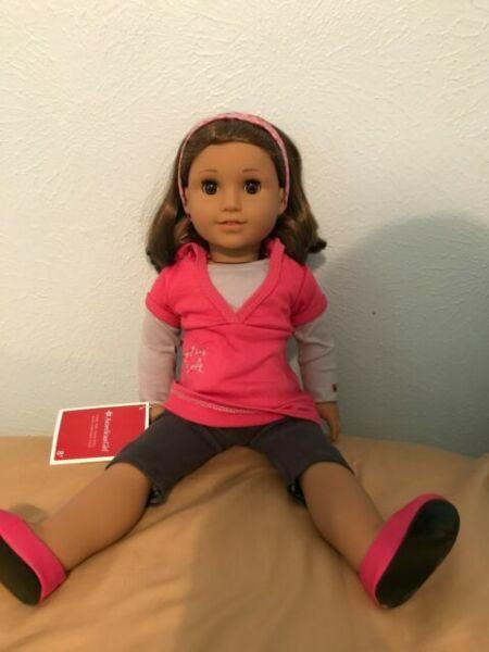 New NIB American Girl Truly Me Doll #61 18 Inch Green Eyes Red Hair Light Skin