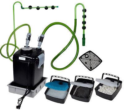 3 Stage 265 GPH External Aquarium Fish Tank Canister Filter Fresh/Salt W/Media