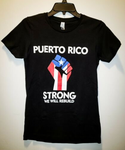 Puerto Rico Brand Next Level Black Small Women/'s t-shirt Pulover de mujer.