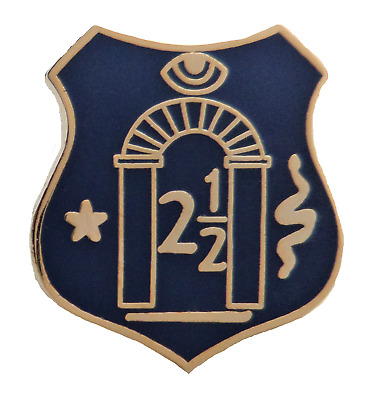 Royal Arch 2 1//2 Tribes Cut Out Blue Shield Tiny Orange Order Pin Badge