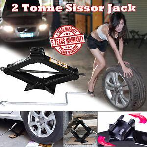 Car Jack Lift Kit Scissor Jacks Stands Tire Change For Travel