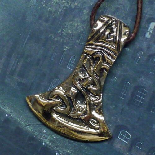 massiv Wikinger Axtamulett 4cm Bronze Axt Anhänger Rus Slawen Mittelalter