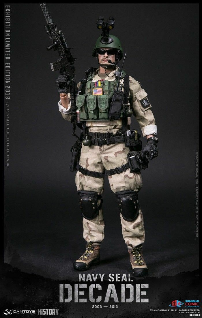 Dam Toys 78060 SHCC 2018 décennie US Navy Seal 2003-2013 1 6 action figure