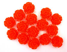 15 x Red SMALL Rose Flowers 15mm Resin Flatbacks Cabochon Decoden