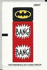 LEGO 76013 - Superheroes - The Joker Steam Roller - STICKER SHEET