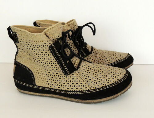 SOREL Womens US 11 Boot ENSENADA Style Canvas & Le