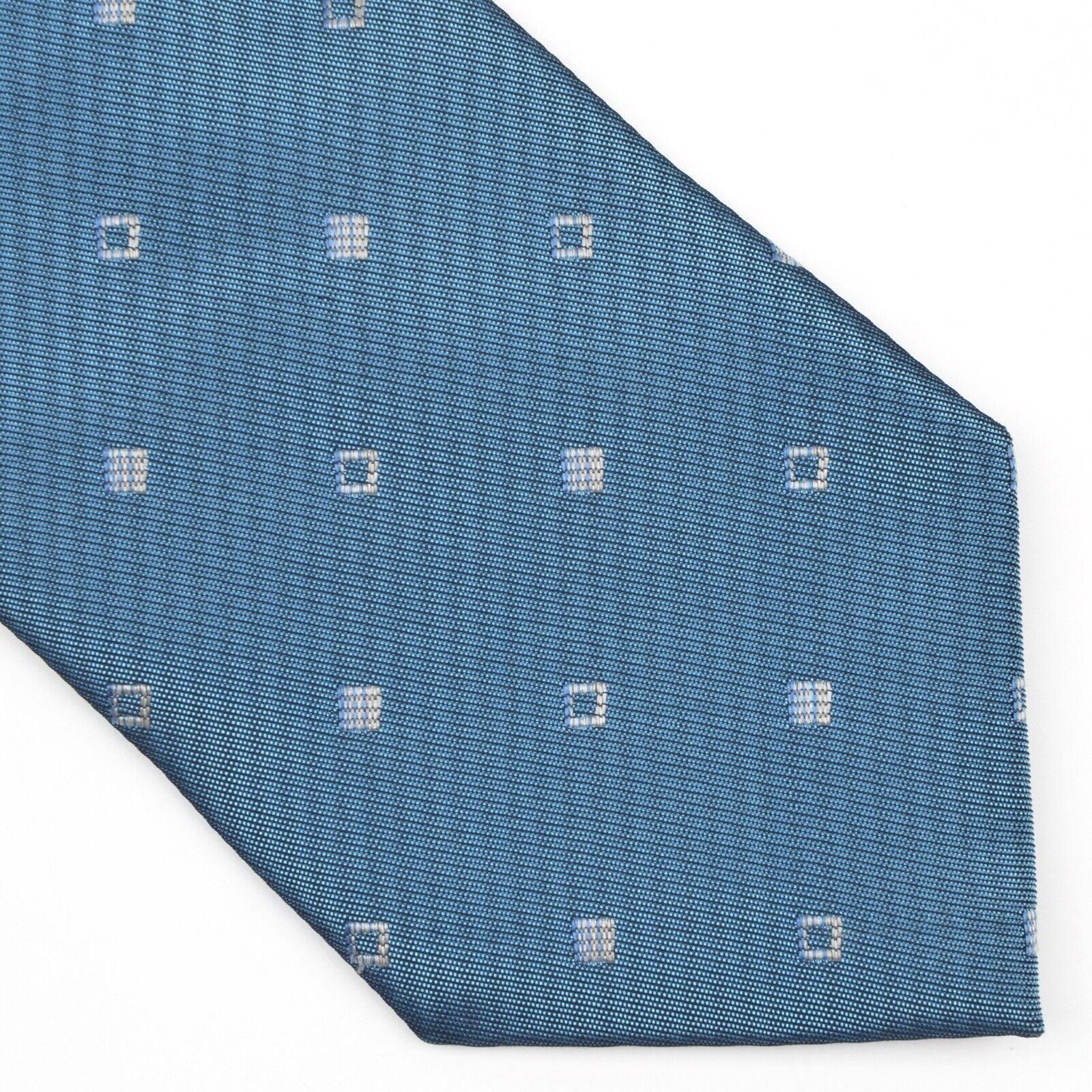Barberini Roma Krawatte Tie 100% Seide Silk Made in Italy Blau Blue Diamond COOL