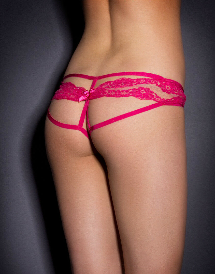 Agent Provocateur LACY Lace Ougreen Brief in Pink Size 3 M New w Tags