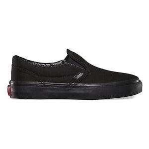 46860ab2632cd2 VANS Classic Slip On Black Black Shoes Kids Youths Boys Sneakers ...