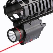 Tactical Pistol Flashlight Torch With Red Laser Sight Weaver Rail Pistol Glock