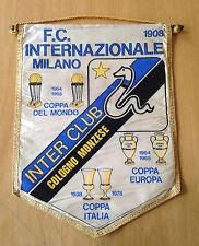 INTER FC GAGLIARDETTO GRANDE  INTER CLUB COLOGNO MONZESE  ANNI 80 MISURE 33X44
