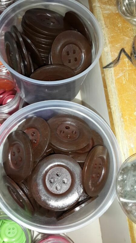 Wooden buttons. Fancy buttons.  Buttons made up