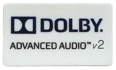 DOLBY ADVANCED AUDIO v2  STICKER LOGO AUFKLEBER 21x12mm (212)