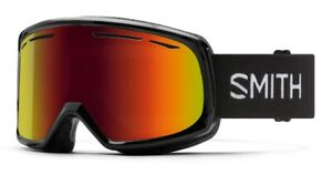 Smith-Drift-Ski-Snow-Goggles-Black-Frame-Red-Sol-X-Mirror-Lens-New-2021