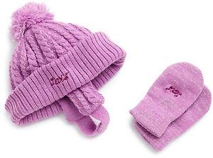 Levi S Baby Girl S Metallic Silver Knit Set Hat Amp Mittens