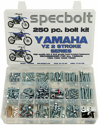 250pc  Bolt Kit Yamaha YZ 60 80 85 100 125 250 400 465 490 500 YZ125 YZ250 YZ85