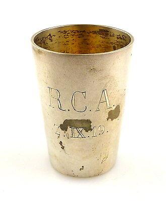 #e5814 Wodkabecher / Schnapsbecher 800 (ag) Silber Ruderclub Allemannia Von 1919 Exquisite (In) Verarbeitung