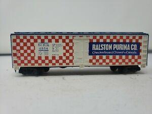 Ralston-Purina-Co-MRS-4554-Reefer-Train-Car-Tyco-HO-Scale-J04