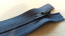 "YKK AIRFORCE BLUE  ( 074 ) NYLON COIL ZIP 25E ( 20 CM / 8 "" ) CLOSED END ZIP"