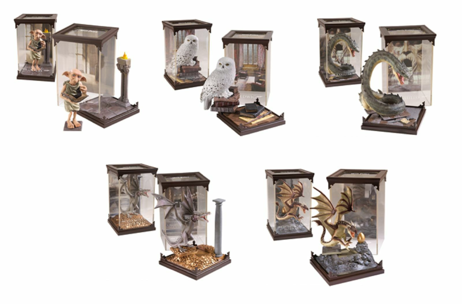 Official Harry Potter Magical Creatures In Display Case Noble Figure Film Gift